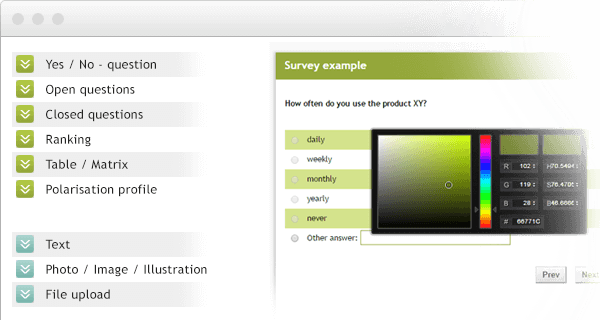 Create Free Online Surveys & Questionnaires with eSurvey Creator